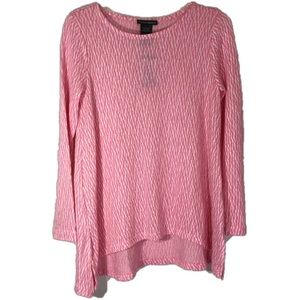 Chelsea & Theodore Textured Knit Top Size S